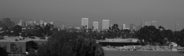 Westwood, Wilshire condos, Century City, taken from Santa Monica