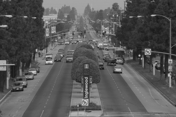 Inglewood, Crenshaw Blvd looking north from 105